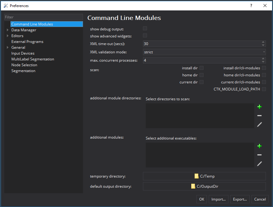 Medical Imaging Interaction Toolkit: The Command Line Modules View
